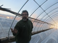 Matt in Hoop House
